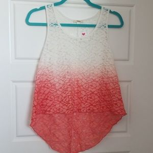Ombre Lace Tank Top
